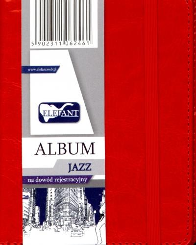 Album Jazz na dowód rejestracyjny czerwony .