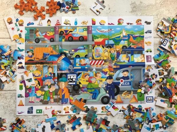Kapitan Nauka. Puzzle obserwacyjne 104: Pojazdy