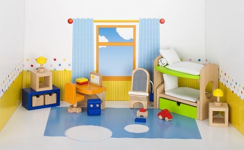 Sypialnia dziecięca do domku dla lalek (GOKI-51746)