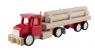 Duża ciężarówka z balami Czerwona (6250R)