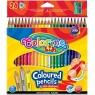 Kredki ołówkowe trójkątne, 24 kolory + temperówka (57462PTR)