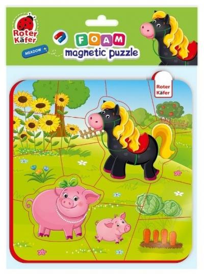 Piankowe puzzle magnetyczne - Koń i świnki (RK5010-06)