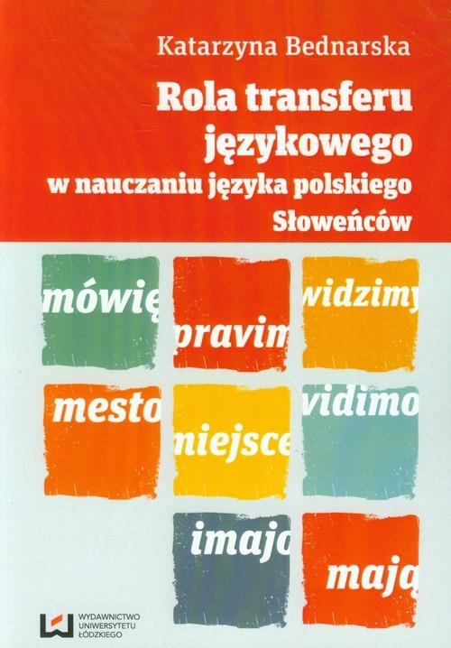 Rola transferu językowego w nauczaniu języka polskiego Słoweńców Bednarska Katarzyna