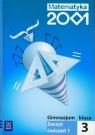 Matematyka 2001 3 Zeszyt ćwiczeń część 1 Gimnazjum Dubiecka Anna