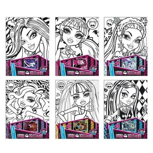 Podobrazie z nadrukiem do malowania Monster High (276611)