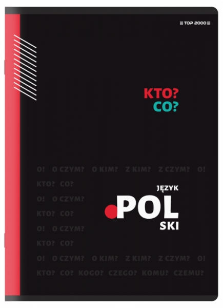 Zeszyt Top 2000 A5/60k, linia z marginesem - Polski (400150701)