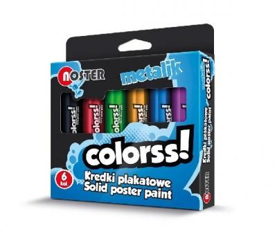 Kredki plakatowe 6 kolorów metalic NOSTER