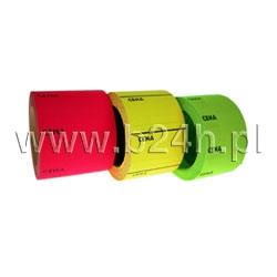 Etykieta cena typ B żółta