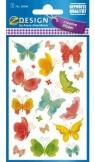 Naklejki papierowe - motyle (56046)