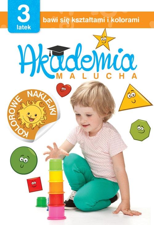 Akademia malucha 3-latek bawi się kształtami