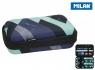 Piórnik usztywniany Milan + 2 saszetki z wyposażeniem EYE Tricks niebieski (08874ET)