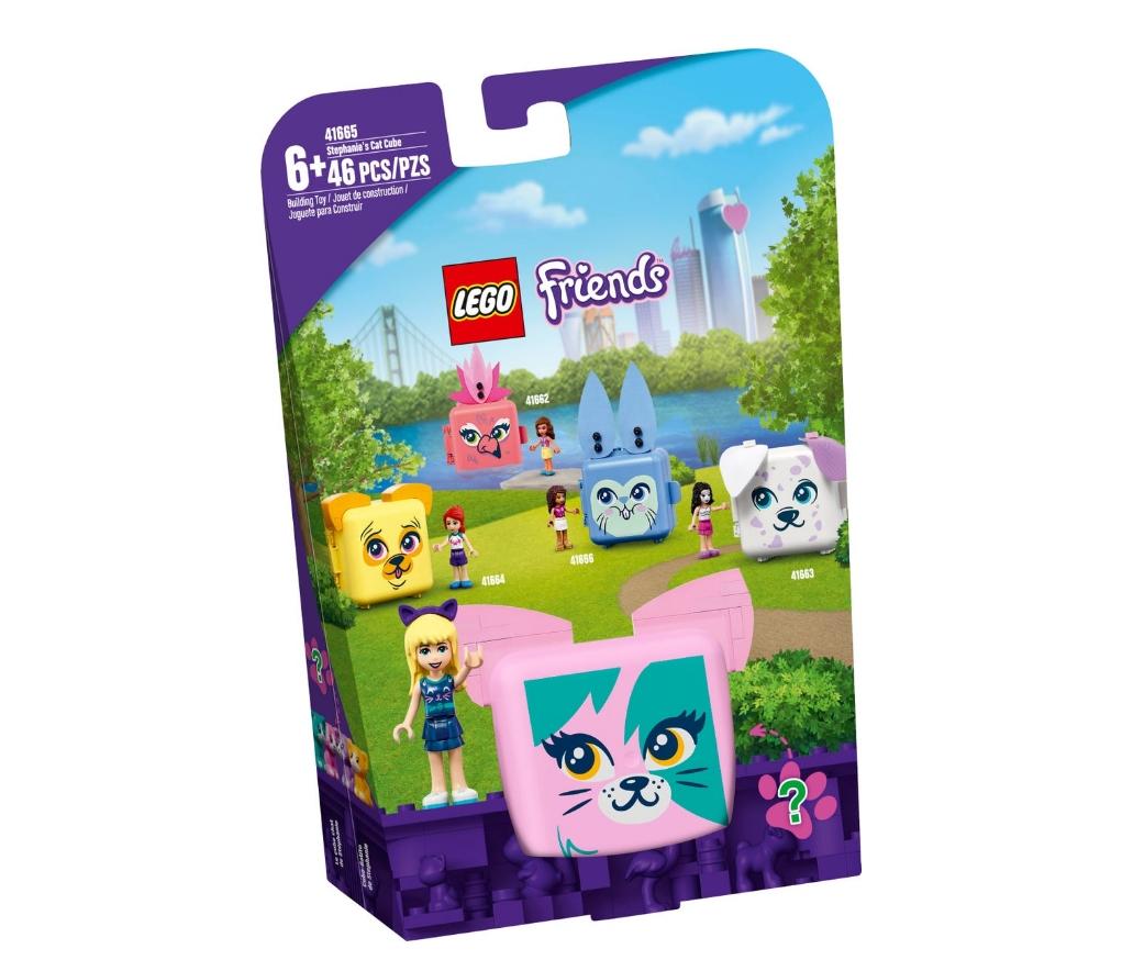 Lego Friends: Kostka Stephanie z kotem (41665)