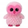 Maskotka Beanie Boos Twiggy - Różowa Sowa 15cm (36846)