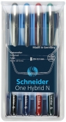 Pióro kulkowe Schneider ONE Hybrid N 0,3 mm, w etui 4 kolory
