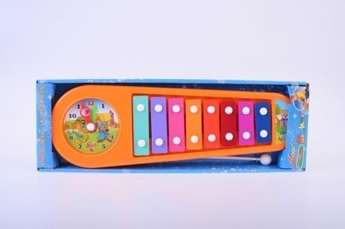 Cymbałki 8 klawiszy z zegarem