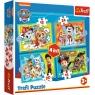 Puzzle 4w1: Wesoła ekipa Psiego Patrolu (34346) Wiek: 3+
