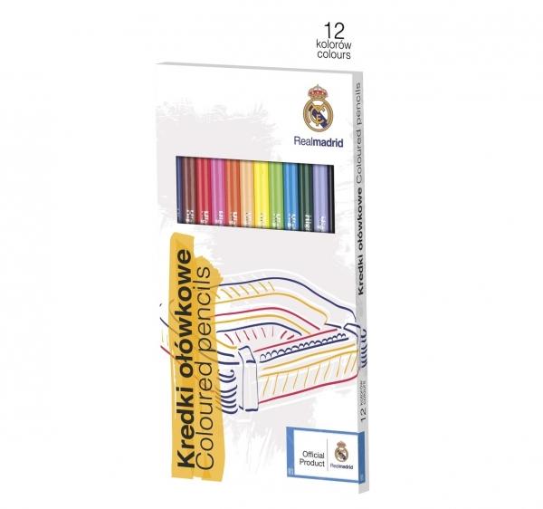 Kredki ołówkowe Real Madrid 12 kolorów