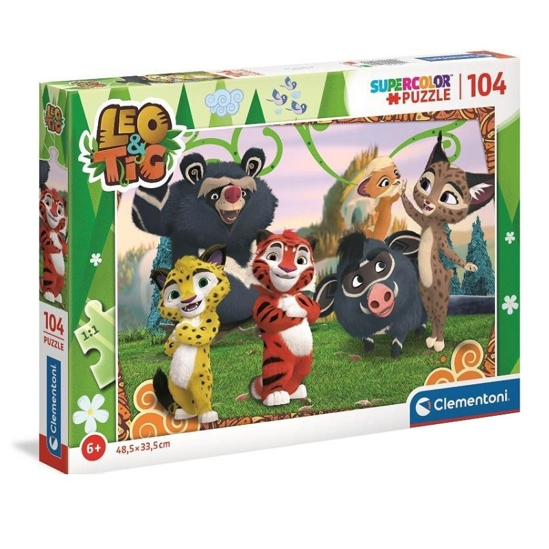 Puzzle SuperColor 104: Leo i Tig (27546)