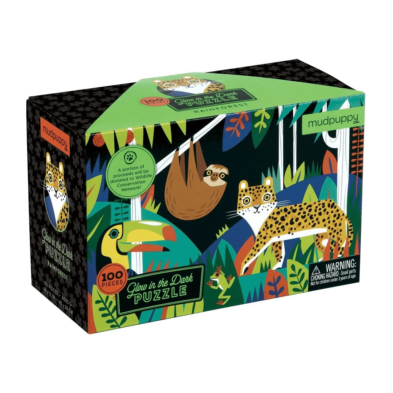 Mudpuppy, Puzzle świecące w ciemności 100: Las tropikalny (MP47465)