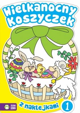 Wielkanocne kolorowanki - Wielkanocny koszyczek 1