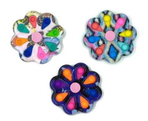 Norimpex, Pop It, zabawka sensoryczna, antystresowa, Spiner mozaika, 8 ramion (NO-1005346)