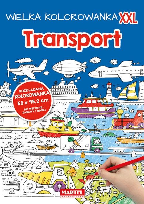 Wielka kolorowanka XXL - Transport praca zbiorowa