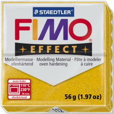 Masa termoutwardzalna Fimo effect złoty brokatowy (S 8020-112)