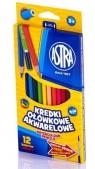 Kredki ołówkowe akwarelowe 12 kolorów + pędzelek