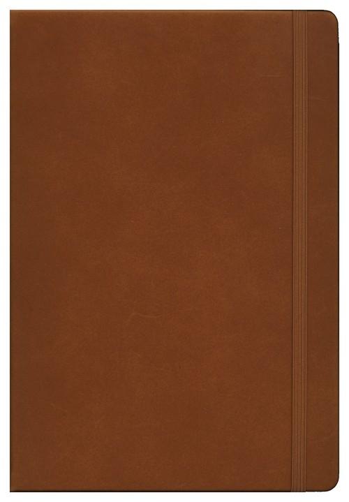 Notes Medium Leuchtturm1917 w kropki brązowy skórzany
