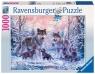 Puzzle 1000: Śnieżne wilki (191468)