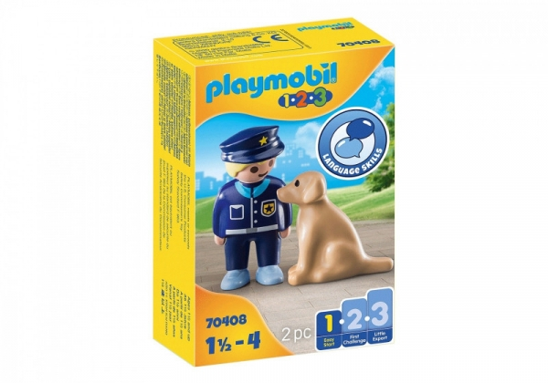 Figurki 1.2.3 70408 Policjant z psem (70408)
