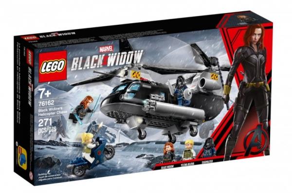 Klocki Marvel Super Heroes Czarna Wdowa i pościg helikopterem (76162)