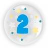 """Balon 45 cm - """"Cyfra 2"""" niebieski (TB 3602)"""