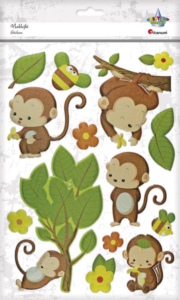 Naklejka (nalepka) Titanum Craft-fun małpki mix