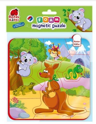 Piankowe puzzle magnetyczne - Zwierzęta z Australii (RK5010-09)