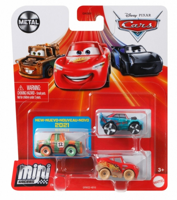 Pojazdy Auta 3-pak Zygzak McQueen w błocie, Stor Effekt (GKG01/GRW22)