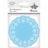 Serwetki papierowe okrągłe 11,5cm/35 szt. - niebieskie jasne (414545)
