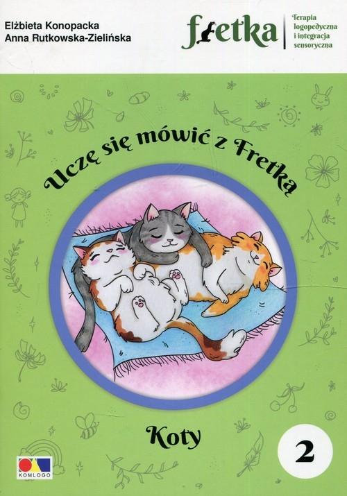 Uczę się mówić z Fretką 2 Koty Konopacka Elżbieta, Rutkowska-Zielińska Anna