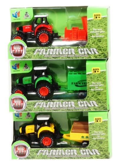 Traktor z przyczepą metal