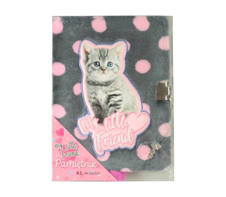 Pamiętnik z kłódką A5 96k Cat