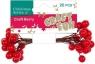 Ozdoba dekoracyjna jagody czerwone 20el