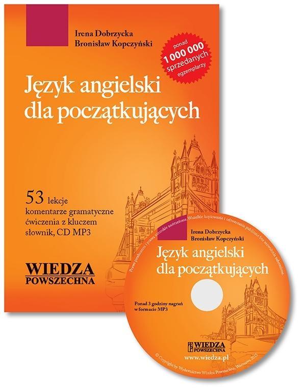 Język angielski dla początkujących+CD MP3 wyd.2015 Irena Dobrzycka, Bronisław Kopczyński