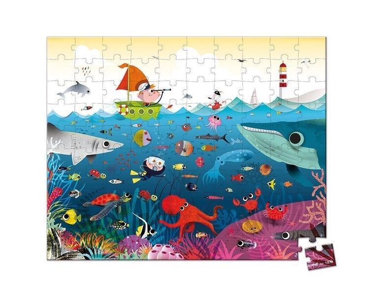 Puzzle w walizce Podwodny świat 100 elementów (J02947)
