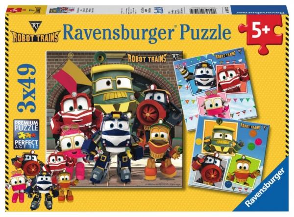 Puzzle 3x49 elementów Robot Trains (080472)