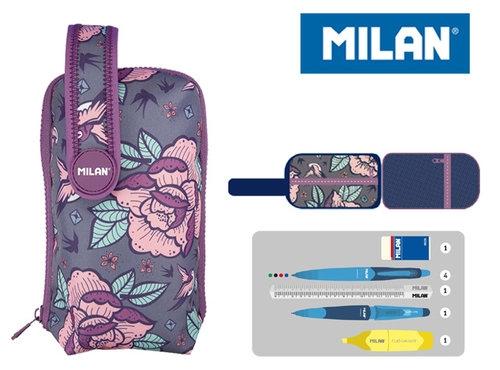 Multipiórnik Milan owalny mini z 1 piórnikiem Flowers