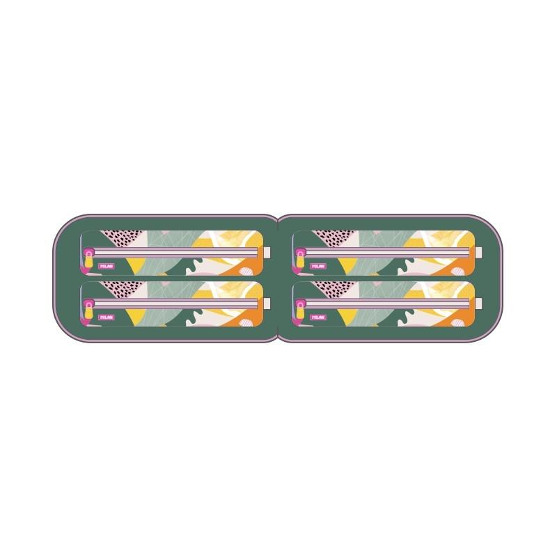 Multipiórnik owalny z 4 piórnikami MILAN CUT & PASTE ECO, różowy (08872CPT)