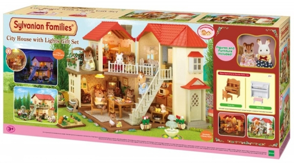 Miejski domek z oświetleniem -zestaw na prezent (2747)