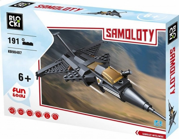 Klocki Blocki: Samoloty. Samolot myśliwski 191 elementów (KB98407)