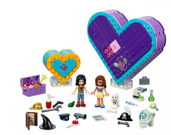 LEGO Klocki Friends: Pudełko w kształcie serca - zestaw przyjaźni (41359)