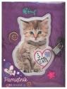 Pamiętnik z kłódką włochacz 96 kartek Kot